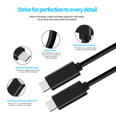 CBUS 5A 100W USB-C Cable, 6.6ft USB Power Delivery (PD) Fast Charge USB 3.1 Gen2, 10Gbps Data Transfer