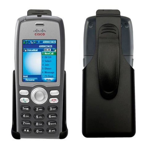 Black Holster w/ Ratcheting Belt Clip for Cisco 7925G, 7925G-EX Unified Wireless IP Phone