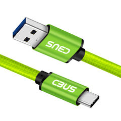 6ft Heavy-Duty Double Braided Fast Charging USB-C Cable (Green)