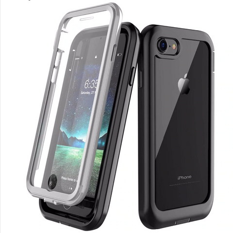 Heavy-Duty Case with Built-in Screen Protector for iPhone SE (2020), iPhone 8, iPhone 7