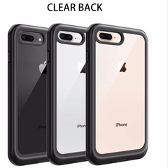 Heavy-Duty Case with Built-in Screen Protector for iPhone 8 Plus, 7 Plus
