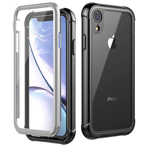 Heavy-Duty Case with Built-in Screen Protector for iPhone XR