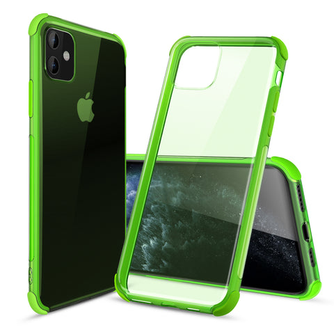 Ultra-Thin Flexible TPU Bumper Case for iPhone 11 (Green)