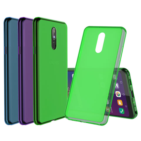 [3-Pack] Flex-Gel Silicone TPU Case for LG Stylo 5 and 5 Plus (Purple, Turquoise, Green)