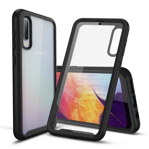 Heavy-Duty Case with Built-in Screen Protector for Galaxy A50, A50s, A30s