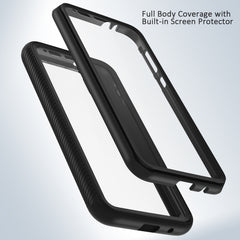 Heavy-Duty Case with Built-in Screen Protector for Motorola Moto E6
