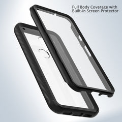 Heavy-Duty Case with Built-in Screen Protector for Google Pixel 5