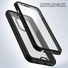 Heavy-Duty Case with Built-in Screen Protector for LG Zone 4, Phoenix 4, Rebel 4, and Rebel 3 LTE