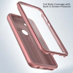 Pink Rose Gold Full Body Phone Case with Built-in Screen Protector for Moto G Stylus