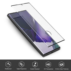 [2 Pack] Curved Tempered Glass Screen Protector for Samsung Galaxy Note 20 Ultra 5G