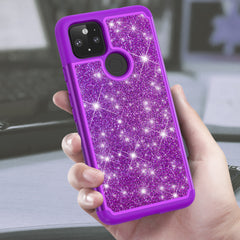Sparkling Glitter Case for Google Pixel 5 (Purple)