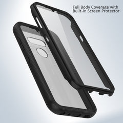Heavy-Duty Case with Built-in Screen Protector for LG Aristo 5, Tribute Monarch, K8X, K31