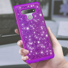 Sparkling Glitter Case for LG Stylo 6 (Purple)