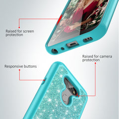 Teal Sparkling Glitter Case for LG Aristo 5, Tribute Monarch, K8X, K31