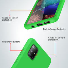 Full Body Case with Built-in Screen Protector for Samsung Galaxy A71 5G UW (Green)