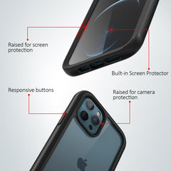 Heavy-Duty Case with Built-in Screen Protector for iPhone 12 Pro Max