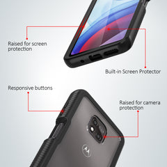 Heavy-Duty Case with Built-in Screen Protector for Moto G Power (2021)