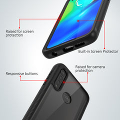 Heavy-Duty Case with Built-in Screen Protector for Moto G Power