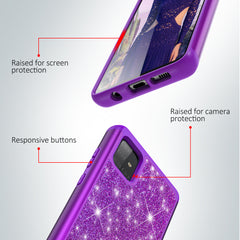 Sparkling Glitter Case for Samsung Galaxy A51 5G (Purple)