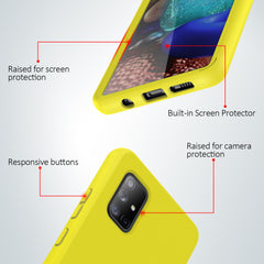 Full Body Case with Built-in Screen Protector for Samsung Galaxy A71 5G (Yellow)