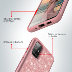 Sparkling Glitter Case for Samsung Galaxy A51 (Pink Rose Gold)