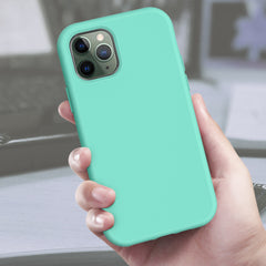 Pastel Mint Silicone Case with Built-in Screen Protector for iPhone 11 Pro Max