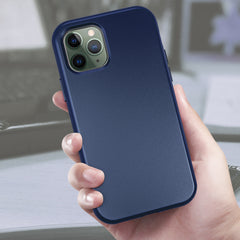 Navy Silicone Case with Built-in Screen Protector for iPhone 11 Pro Max
