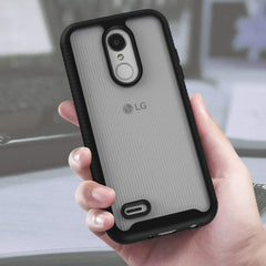Heavy-Duty Case with Built-in Screen Protector for LG Phoenix 4, Risio 3, Zone 4, K8+, and K8 (2018)