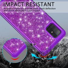 Sparkling Glitter Case for Samsung Galaxy A71 5G UW (Purple)