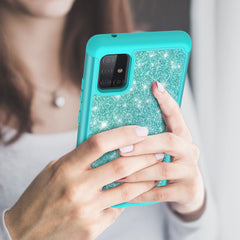 Sparkling Glitter Case for Samsung Galaxy A51 5G (Teal)