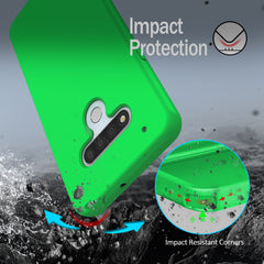 Silicone Case with Built-in Screen Protector for LG Stylo 6 (Green)