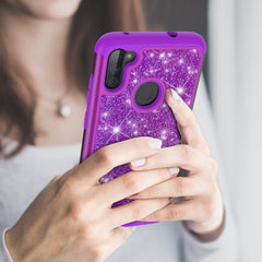 Sparkling Glitter Case for Samsung Galaxy A11 (Purple)