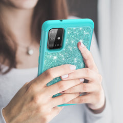 Sparkling Glitter Case for Samsung Galaxy A51 (Teal)