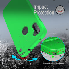 Silicone Case with Built-in Screen Protector for Samsung Galaxy A11 (Green)