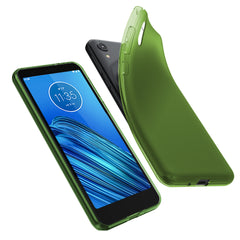 [3-Pack] Flex-Gel Silicone TPU Case for Motorola Moto E6 (Purple, Turquoise, Green)