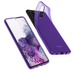 [3-Pack] Flex-Gel Silicone TPU Case for Samsung Galaxy S20 (Purple, Turquoise, Green)