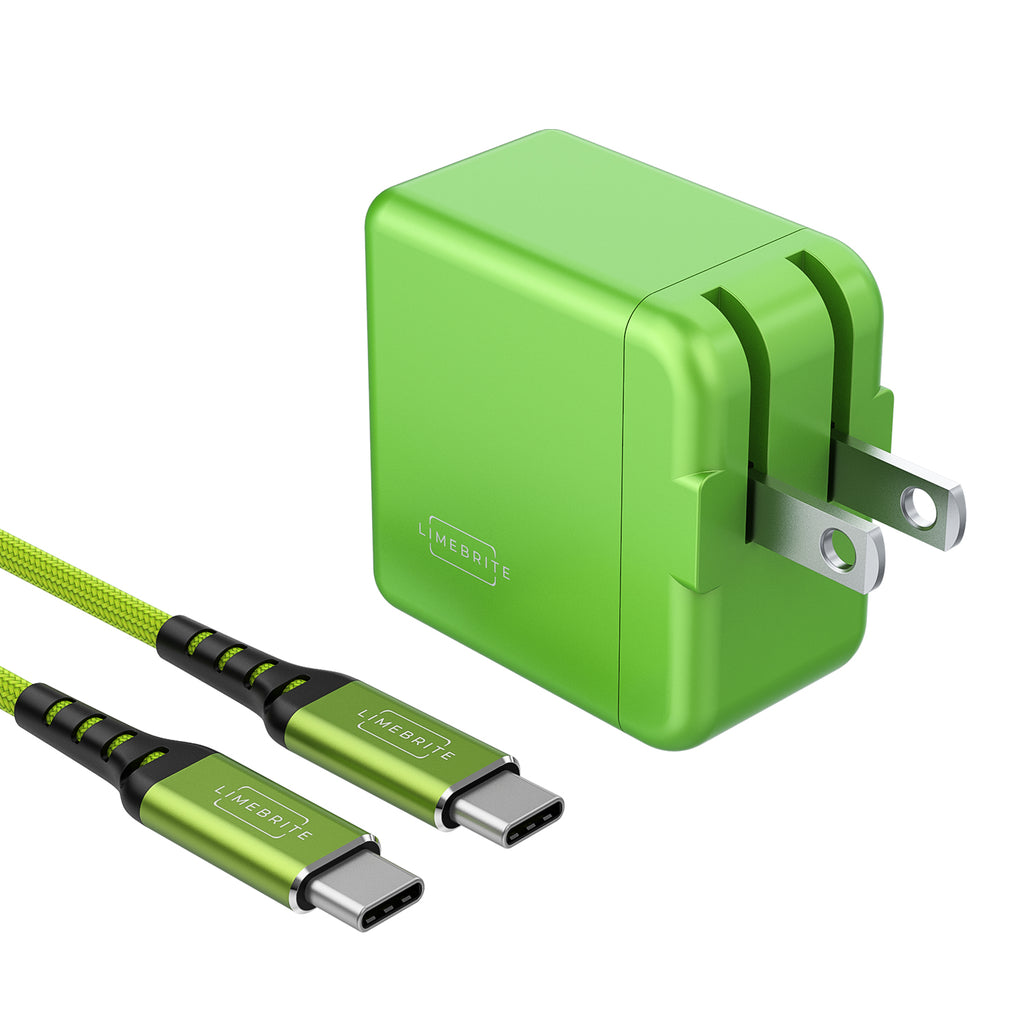 Limebrite Fast Charger Power Adapter + 10ft Cable for Samsung, Google Pixel, LG, Motorola, OnePlus (Green)