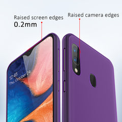 [3-Pack] Flex-Gel Silicone TPU Case for Samsung Galaxy A20, A30 (Purple, Blue, Green)