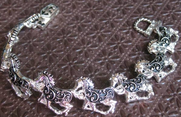 Decorative Running Horses Bracelet