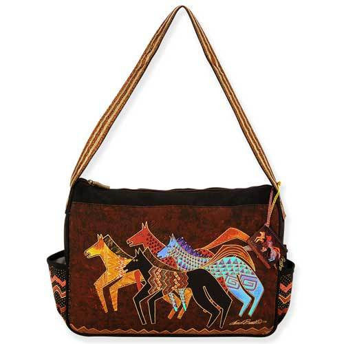 Native Horses Medium Hobo Bag