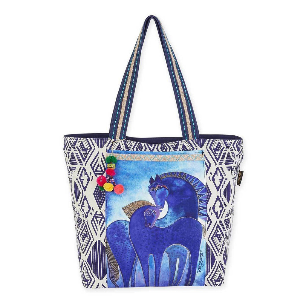 Indigo Mares Shoulder Tote Bag