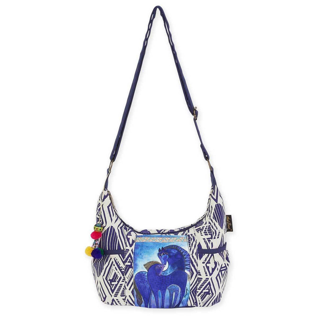 Indigo Mares Medium Scoop Crossbody Tote