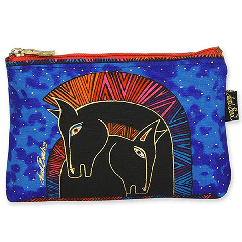 Cotton Canvas Cosmetic Bag Wild Horses