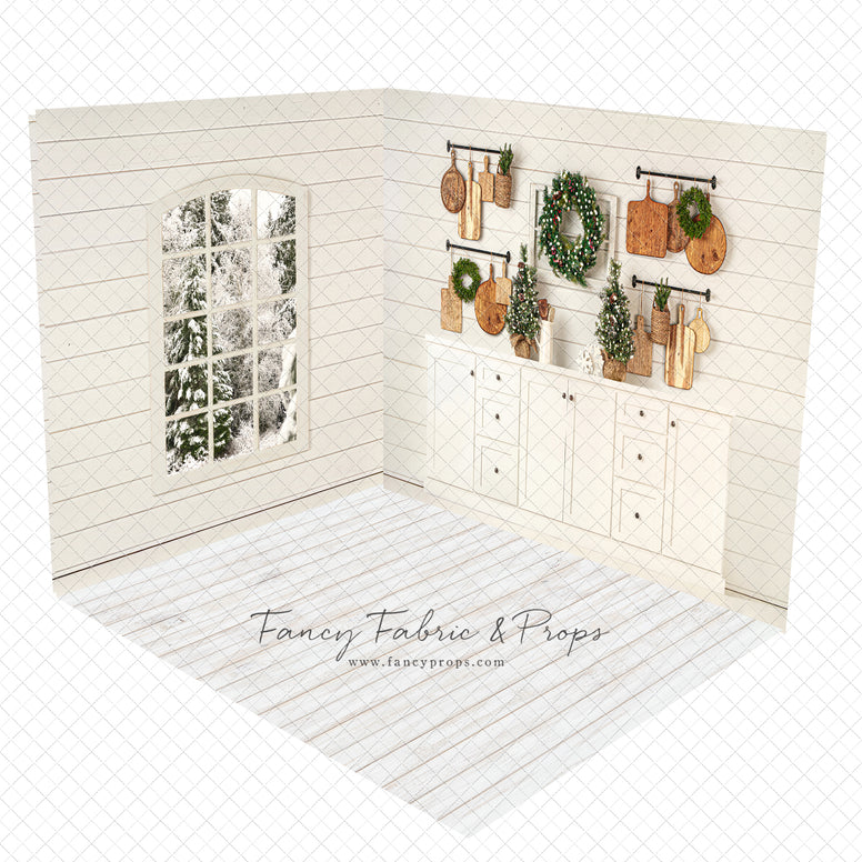 Shiplap Christmas Kitchen Room
