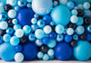Bubble Blues Balloon Wall