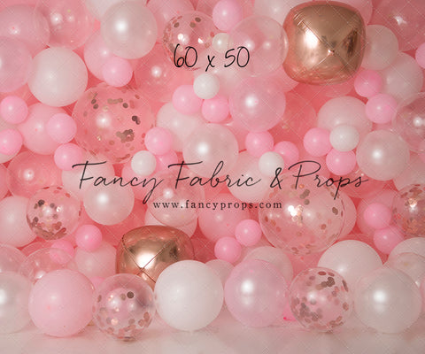 Rosegold Rouge Balloon Wall