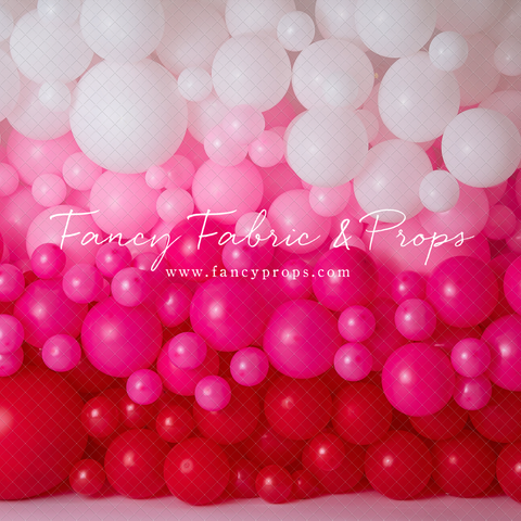 Ombre Valentine Balloon Wall
