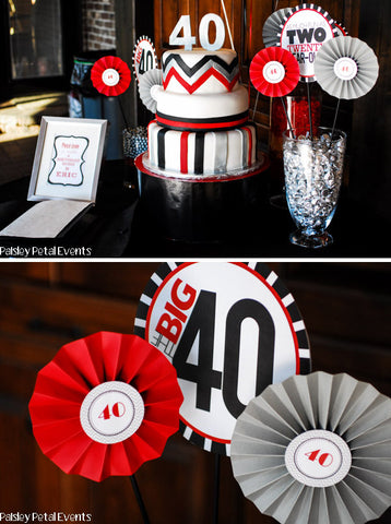 printable THE BIG O 30, 40, 50, 60.... BIRTHDAY Full party Collection (As much fun as two...)