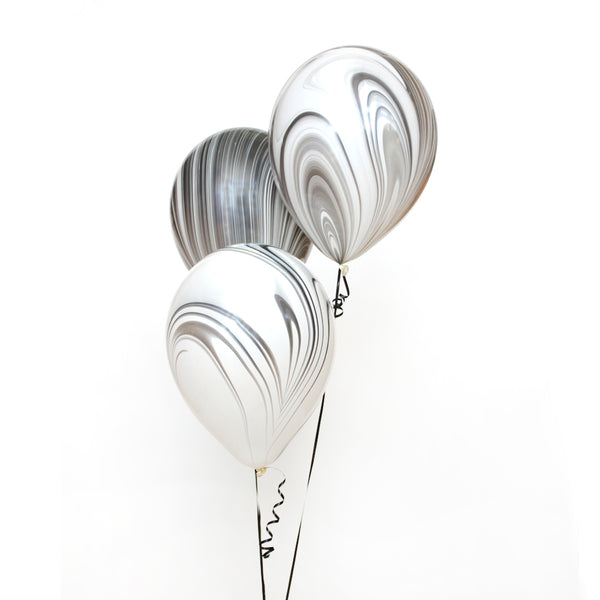 Black & White Marble Balloon
