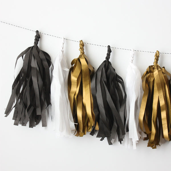 Gala Fringe Tassel Garland Kit or Fully Assembled